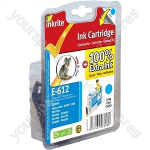 Inkrite NG Printer Ink for Epson D68 D88 DX3800 DX4800 - T061240 Cyan (Koala)