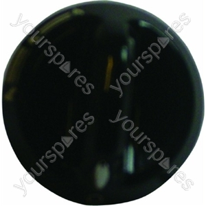 Indesit Black Hob Hotplate Control Knob