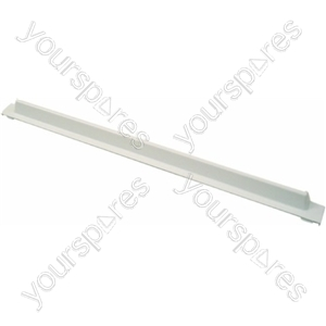 Indesit White Plastic Refrigerator Rear Glass Shelf Trim