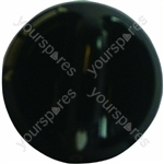 Indesit Black Hob Hotplate Control Knob