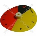 Indesit Orange/Yellow/Black Cooker Knob Disc