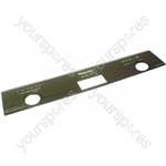 Indesit Dishwasher Brown Control Panel Fascia