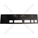 Hotpoint 9555A Console Fascia