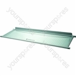 Hotpoint Fridge Glass Shelf - Rear Half