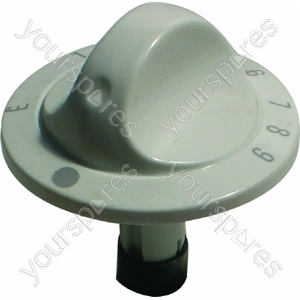 Indesit White Oven Temperature/Thermostat Knob