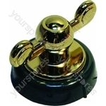 Creda Green and Bronze Cooker Knob Assembly