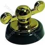 Control Knob Green & Gold