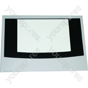 Cannon Main Oven Outer Door Glass w/ White Detail