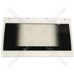 Indesit Oven Door Glass Assembly w/ White Detail