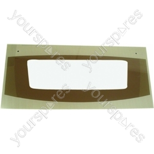 Cannon Top Oven/Grill Outer Door Glass