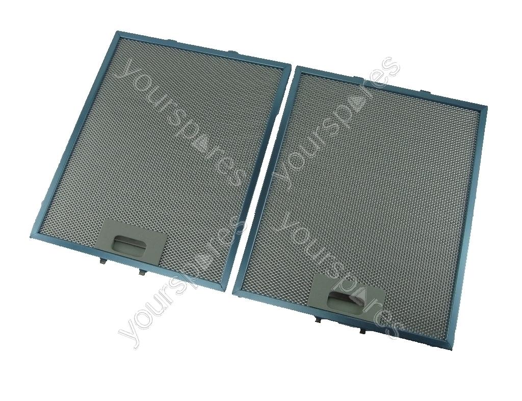 Hood Grease Filter Creda 2 X Universal 320 X 260 Mm Metal Cooker Hood Grease Filters
