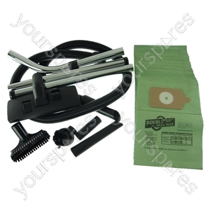 Numatic Vacuum Cleaner 1.8m Hose and Tool Kit with 20 x Paper Dust Bags