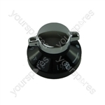 Belling 050531072 Black & Silver Oven Control Knob