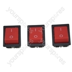 Numatic On/Off Rocker Vacuum Cleaner Switch x 3