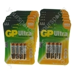 GP Ultra Plus Alkaline Batteries AAA 19 x Packs Of 4 Expiry 2018